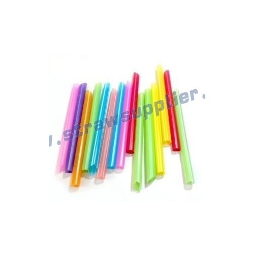 plastic wrapped boba straws