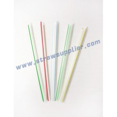 striped unwrapped milkshake straws