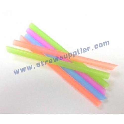 neon unwrapped milkshake straws