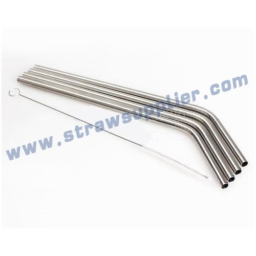 Flexible Stainless Steel Straw With Straw Cleaning Brush