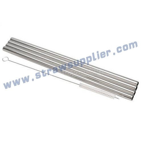 Straight Stainless Steel Straw With Straw Cleaning Brush