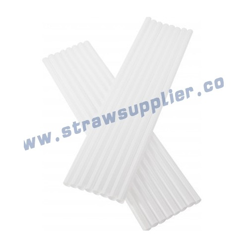 white straight straw