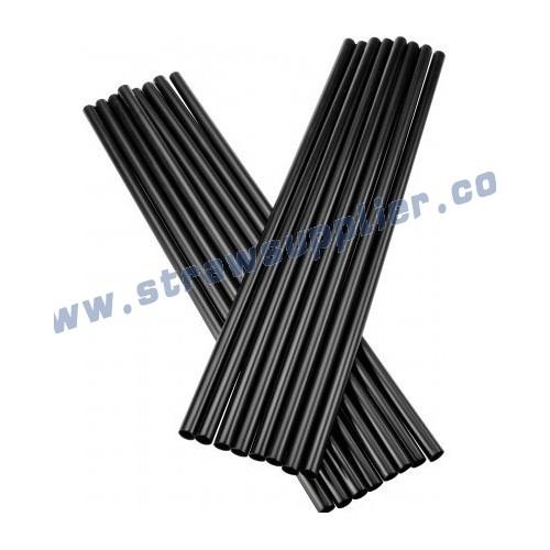 black straight straw