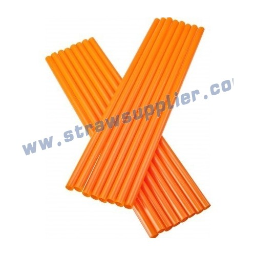 orange straight straw