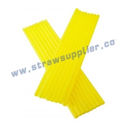 yellow straight straw