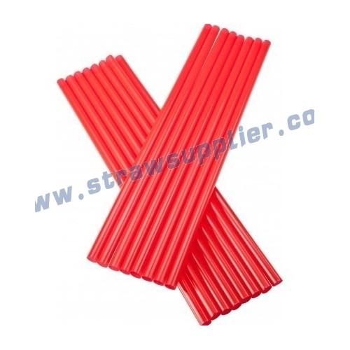 red straight straw