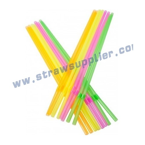 neon flexible straw