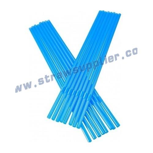 blue 8mm flexible straw