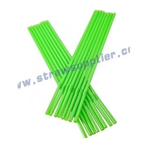 green 7mm flexible straw