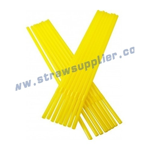 yellow 6mm flexible straw