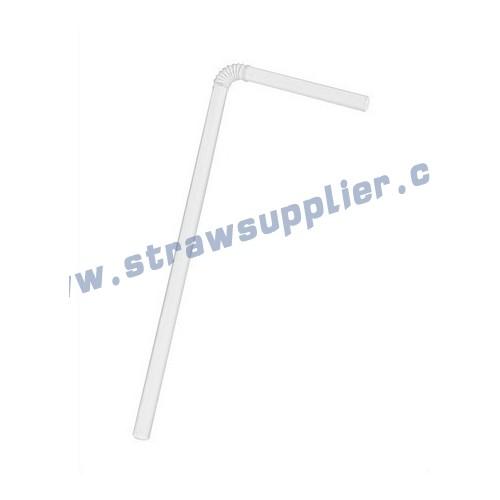 White flexi straws