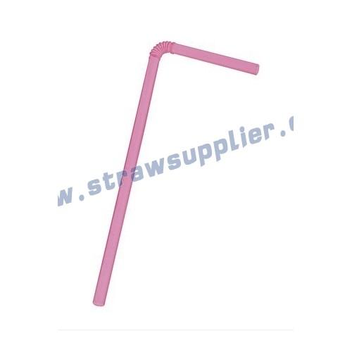 Pink flexi straws
