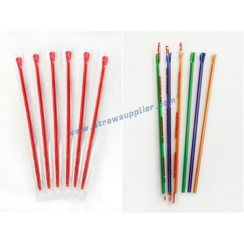 spoon straws with film wrapped