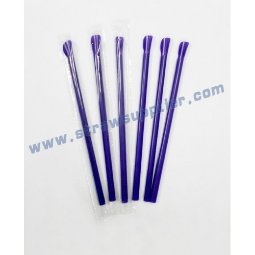 film wrapped spoon straws