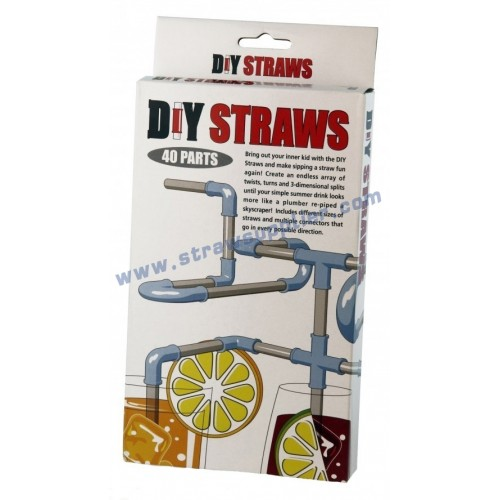 40pieces DIY Straws