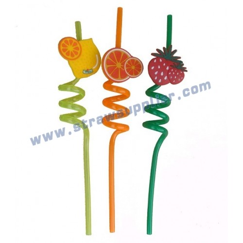 crazy straws with logo-Fruit