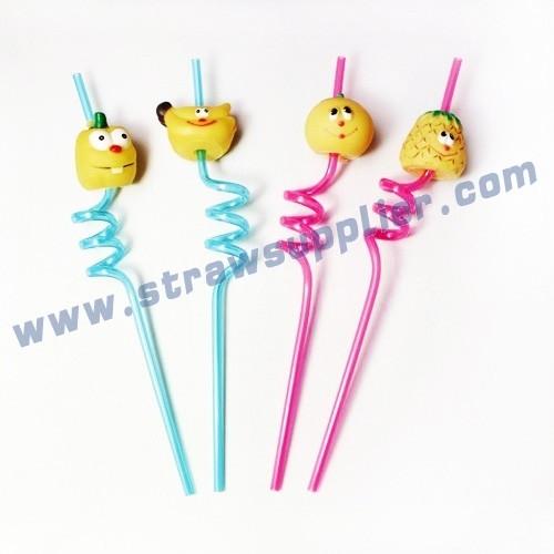 crazy straws with logo-Fruit-3D