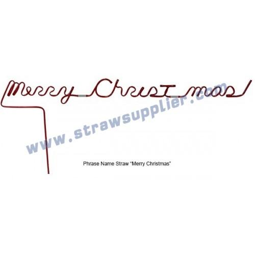Phrase Straws-Merry Christmas