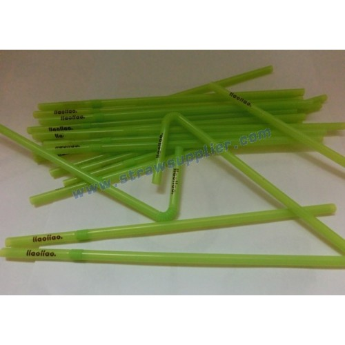 One Color Flexible Printing Straw With A Word 17.5x3.5mm In The Same Plane