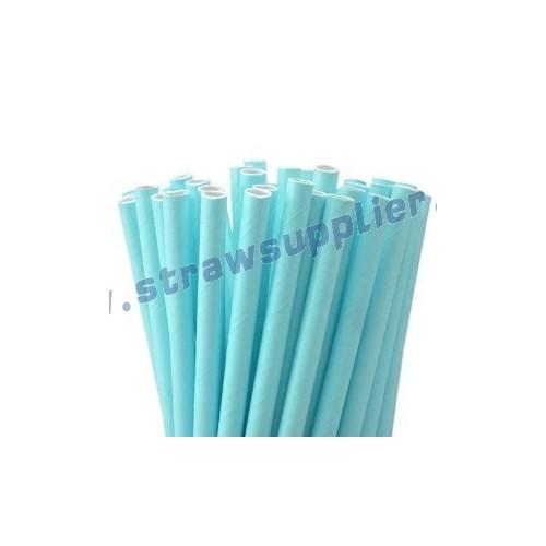 Turqouise Plain Paper Straws