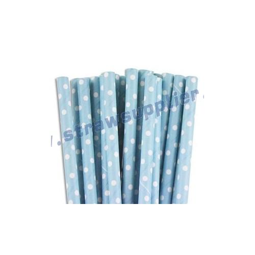 Blue Mini Spots Paper Straws