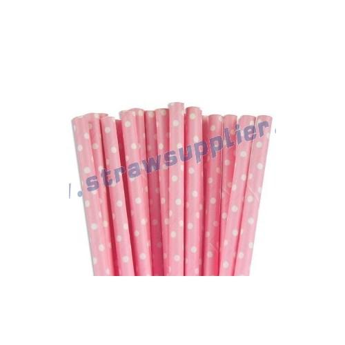 Pink Mini Spots Paper Straws