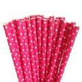 Dark Pink Mini Spots Paper Straws