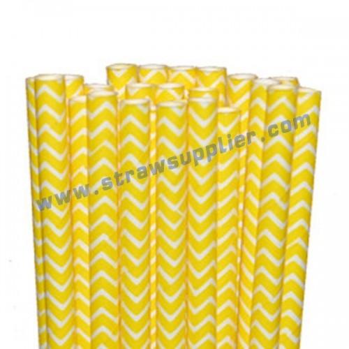Yellow Chevron Paper Straws